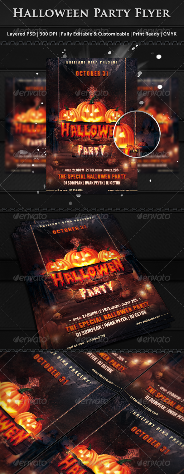 GraphicRiver Halloween Party Flyer Template 5883958