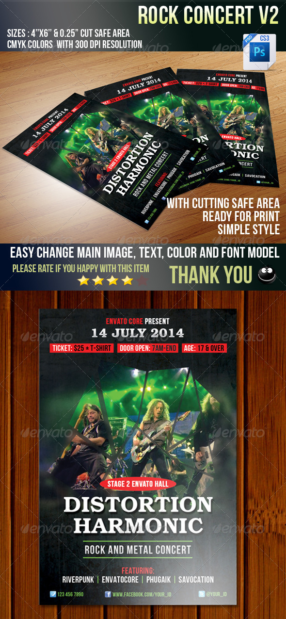 GraphicRiver Rock Concert V2 5807980