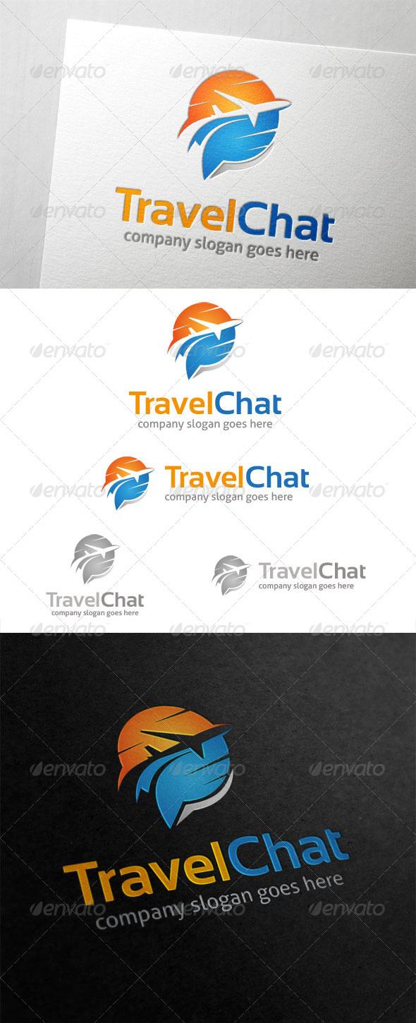 GraphicRiver Travel Chat Logo 5884168