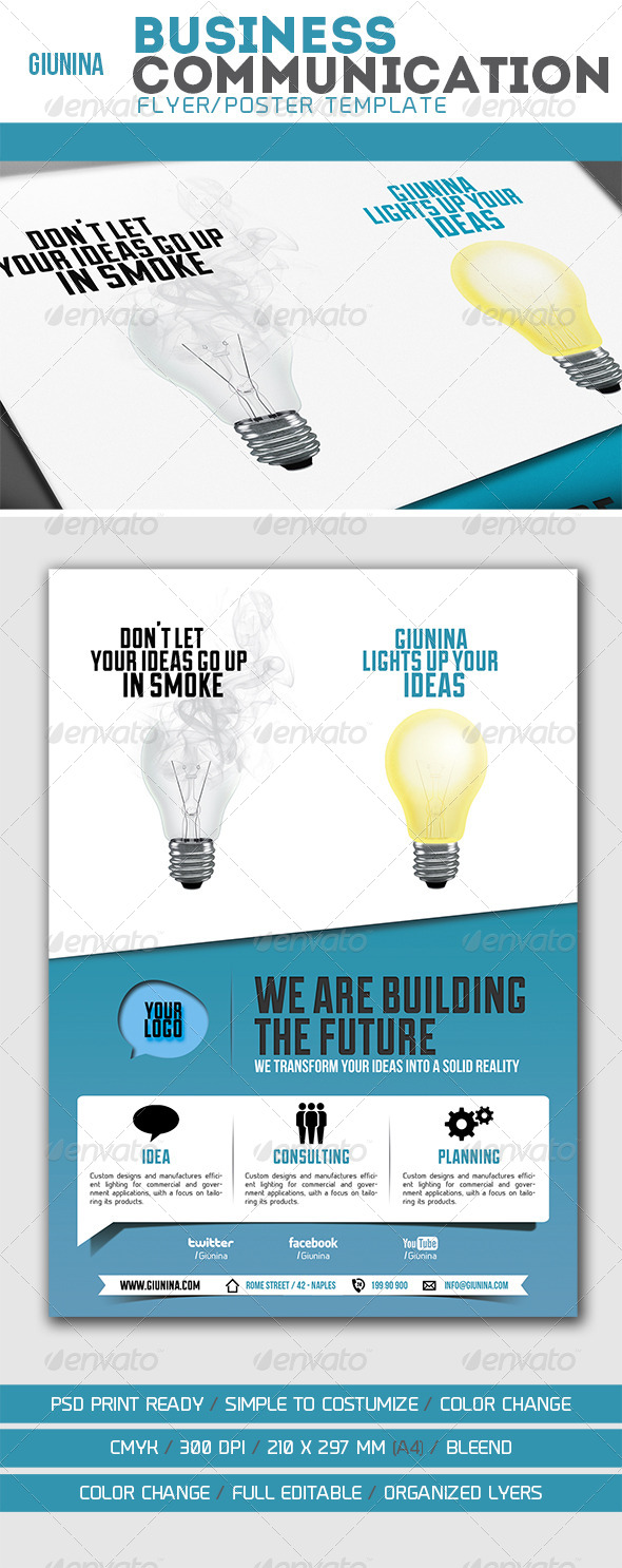GraphicRiver Business Communication Flyer Poster 5846798