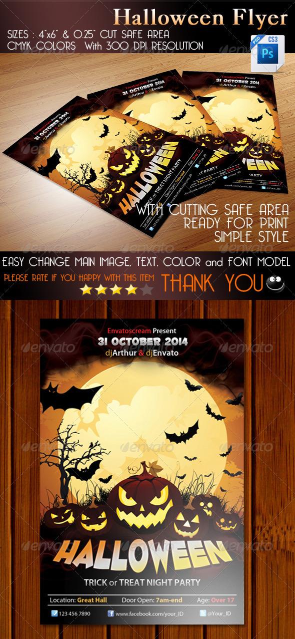 GraphicRiver Halloween Flyer 5691895