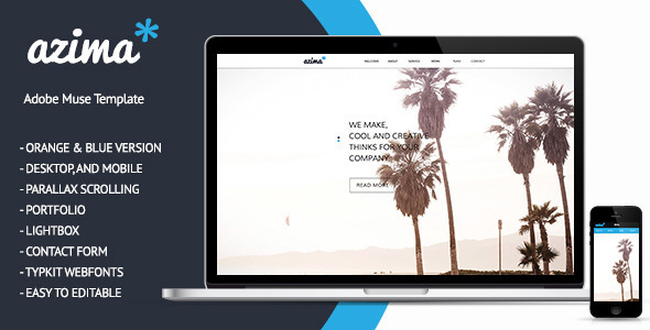 ThemeForest Azima Portfolio Muse Theme 5723581
