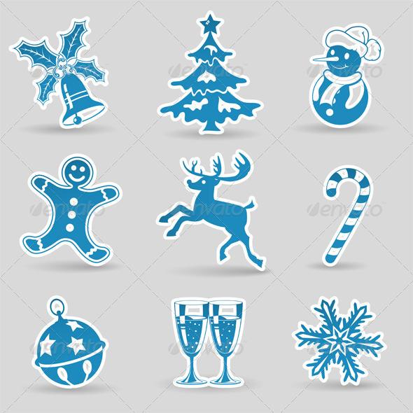 GraphicRiver Christmas Icons 5884946
