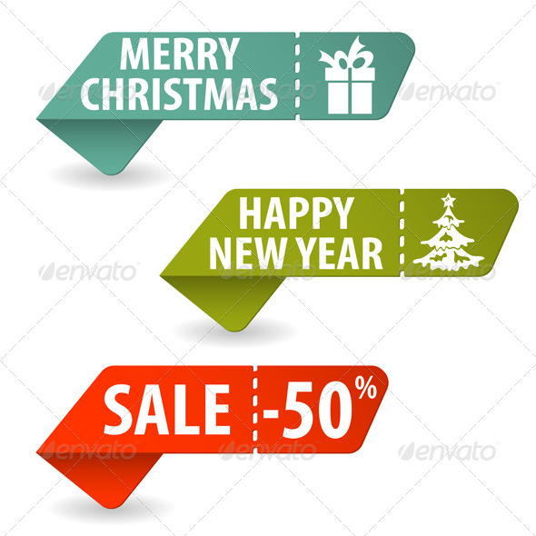 GraphicRiver Collect Christmas Signs 5884953