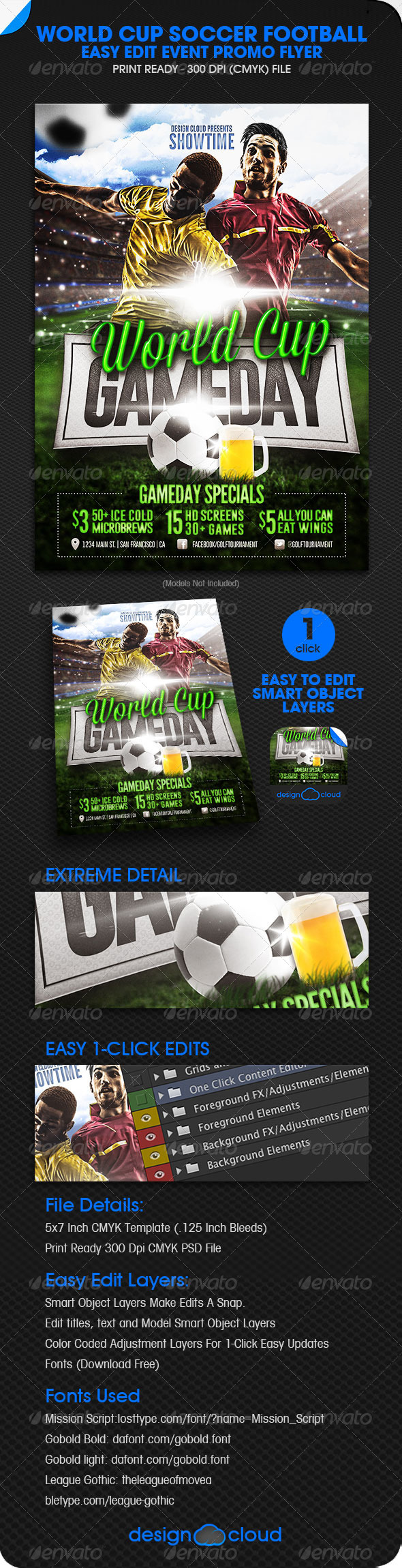 GraphicRiver World Cup Soccer Football Event Promo Flyer 5884986