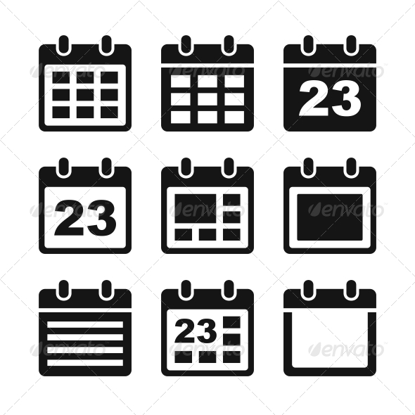 GraphicRiver Calendar Icons Set 5885348