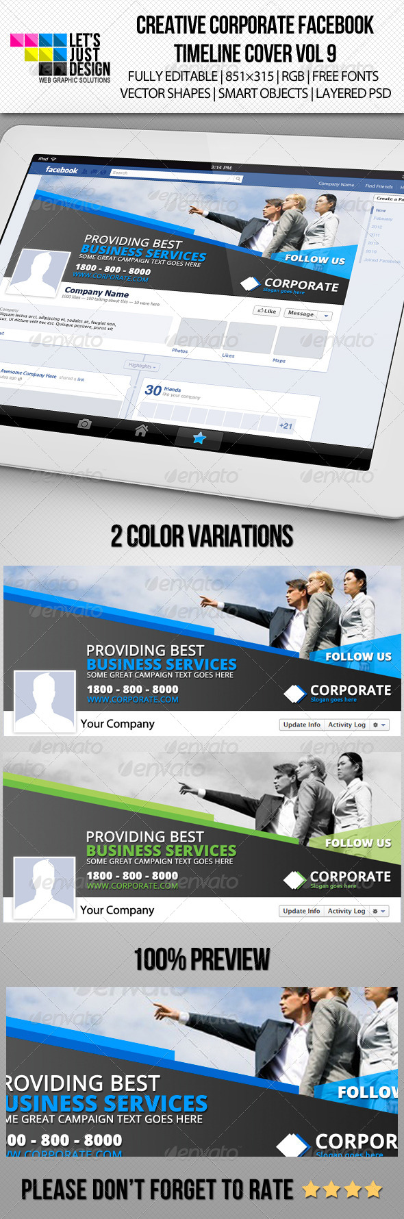 GraphicRiver Creative Corporate Facebook Timeline Cover Vol 9 5885378