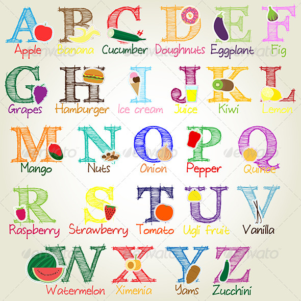 GraphicRiver Illustrated Alphabet Letters 5885699
