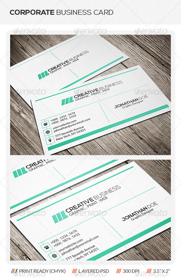 GraphicRiver Corporate Business Card Template 5886050