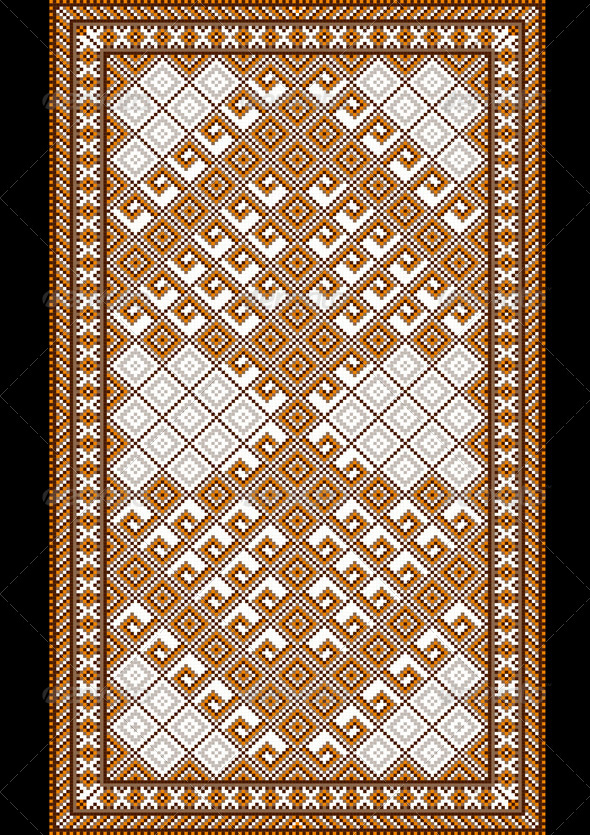 Pattern for Light Carpet  - Stock Photo - Images