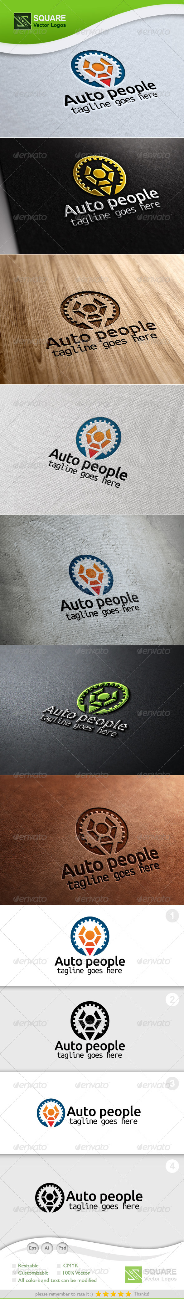 Gear, Human Vector Logo Template - Symbols Logo Templates