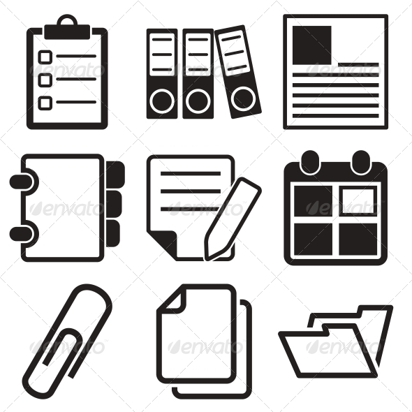 GraphicRiver Document Office Icons 5886374