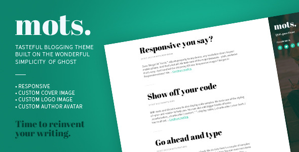 mots. - A tasteful, responsive Ghost Theme