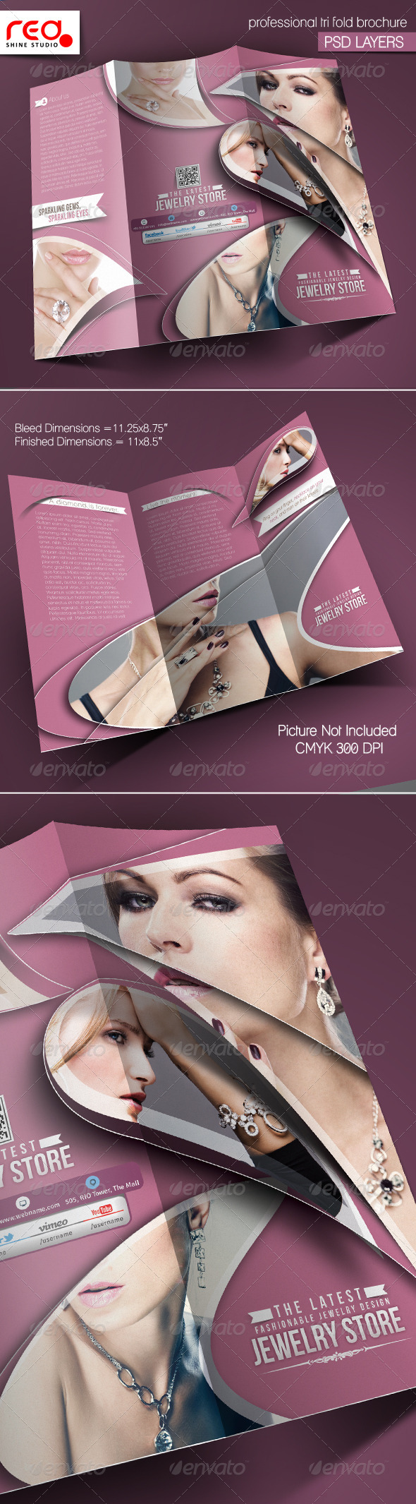 GraphicRiver Jewelry Shop Trifold Brochure Template 2 5886587