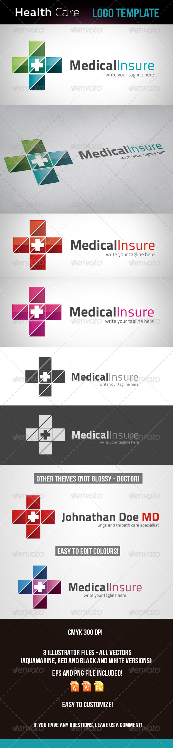 Doctor - Health Care Logo Template - Logo Templates