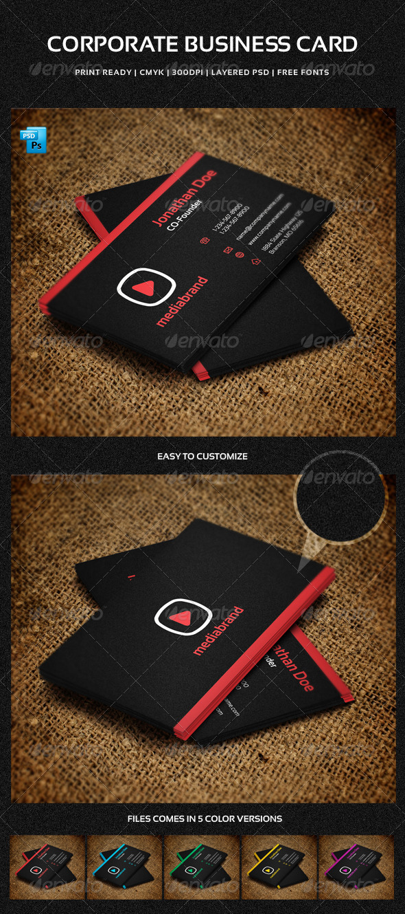 GraphicRiver Corporate Business Card 5886671