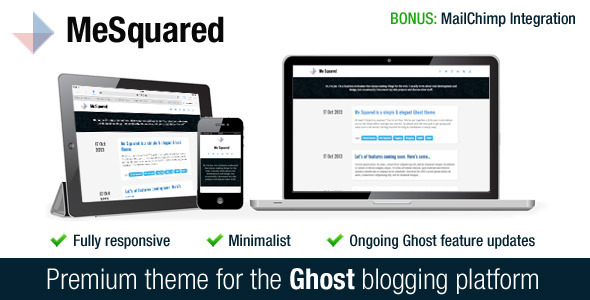 ThemeForest Me Squared Beautiful Responsive Theme for Ghost 5883938