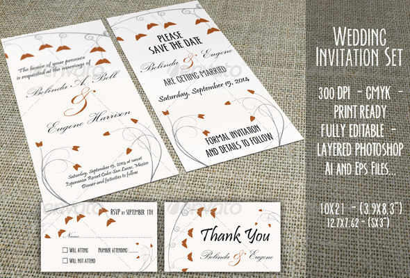 Wedding Invitation Set - 03