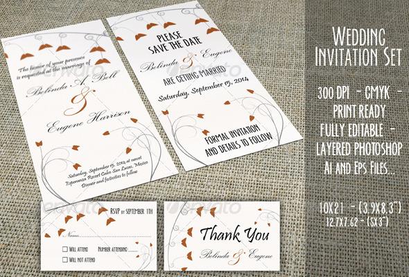 GraphicRiver Wedding Invitation Set 03 5837133
