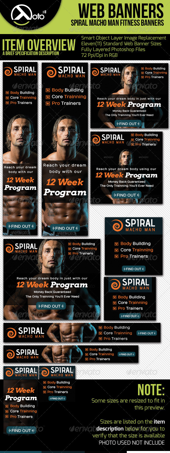 GraphicRiver Spiral Fitness Web Banners 5886979