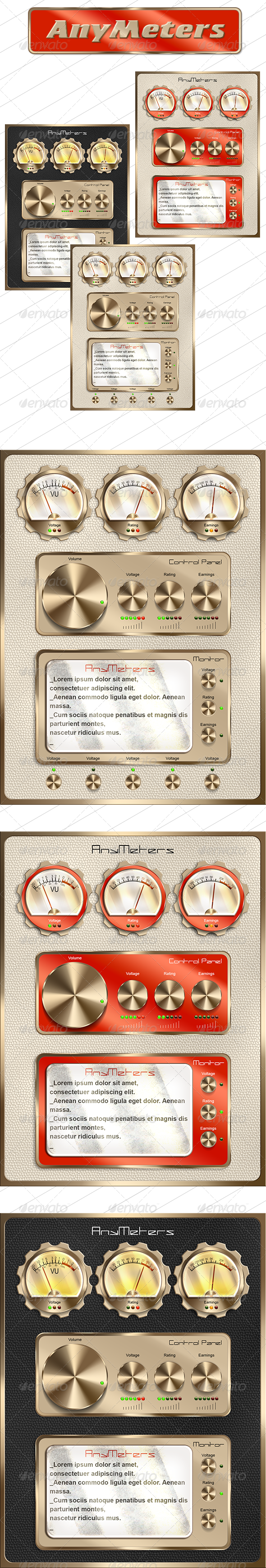 GraphicRiver Retro Tablet UI 5870859
