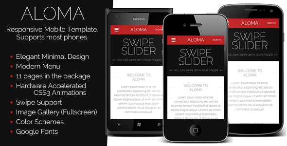 ALOMA | Liquid Mobile Template