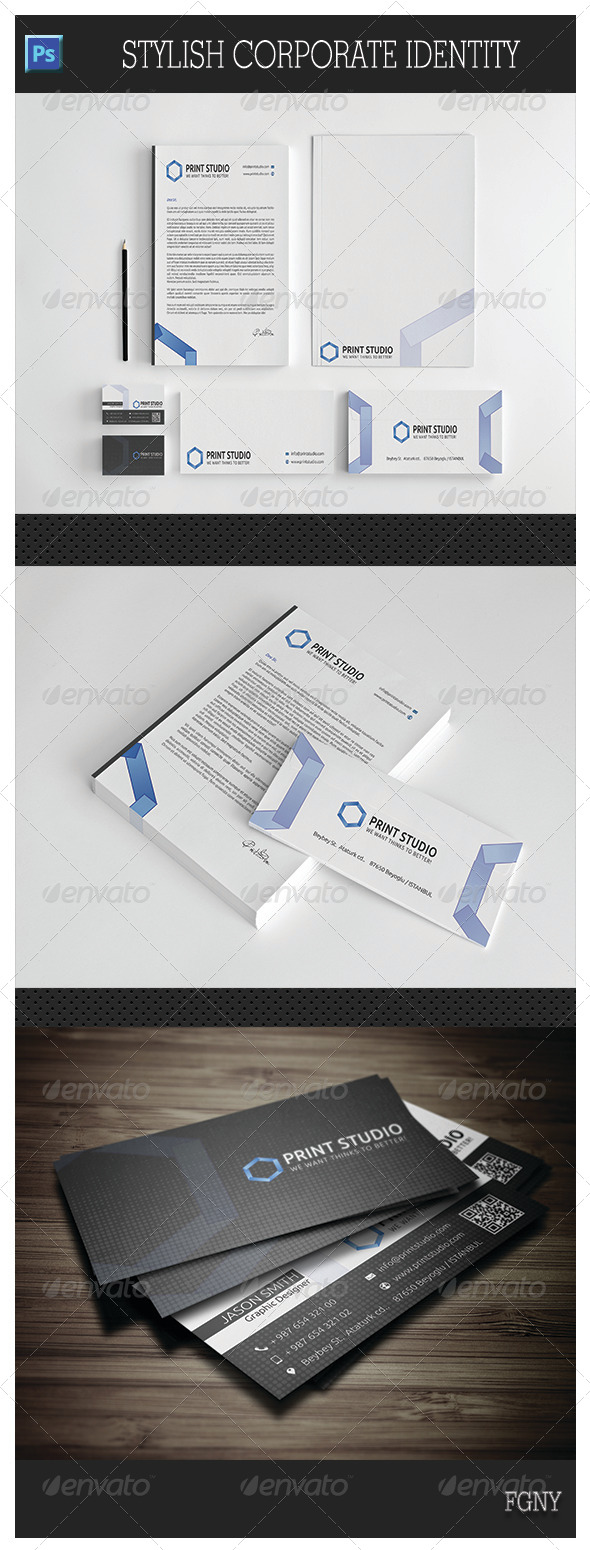 GraphicRiver Stylish Corporate Identity 5850569