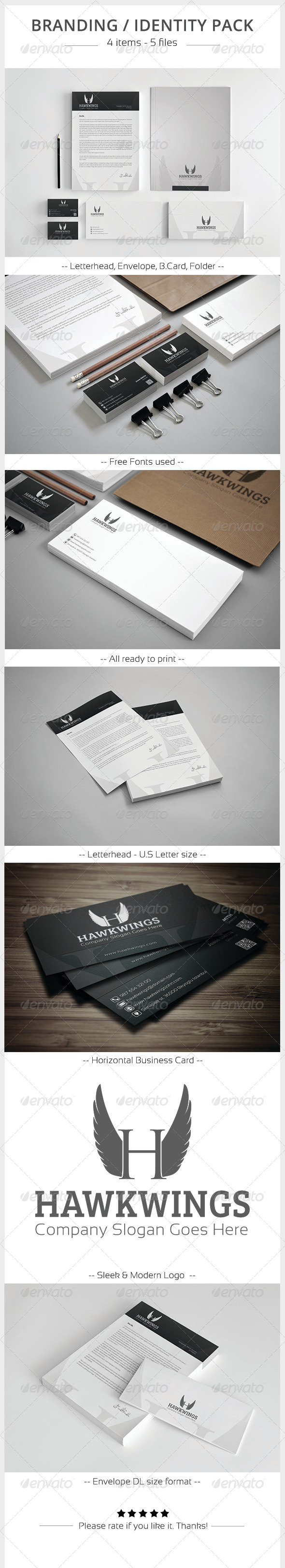 GraphicRiver Hawkwings Corporate Identity Pack 5850536