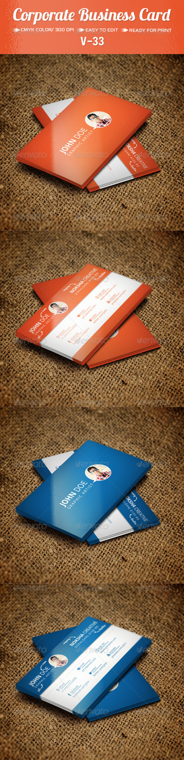 GraphicRiver Corporate Business Card V-33 5851219