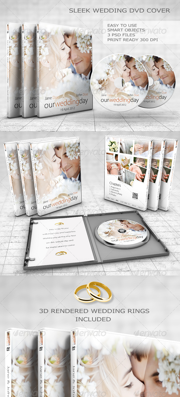 GraphicRiver Sleek Wedding DVD Cover Set 5887704