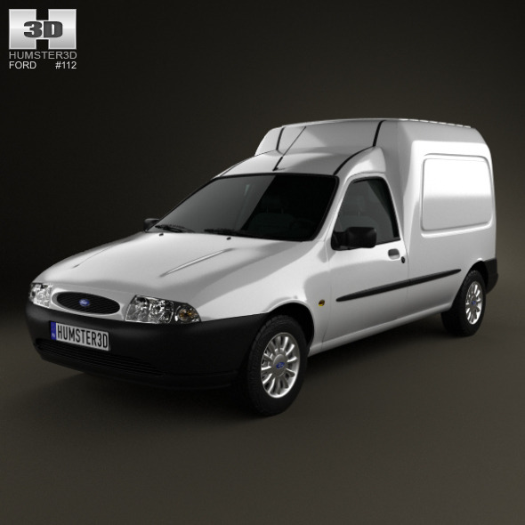 3DOcean Ford Courier Van UK 1999 5887738