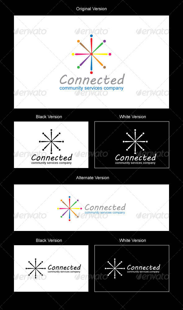 Connected Logo Design