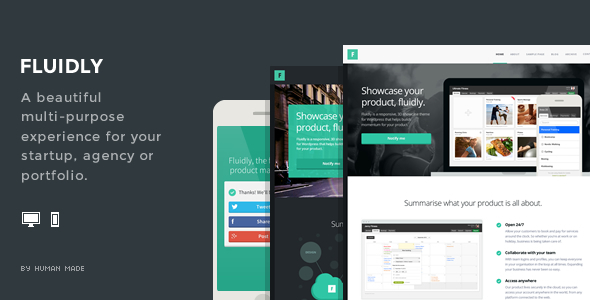 ThemeForest Fluidly A multi-purpose showcase theme 5881672