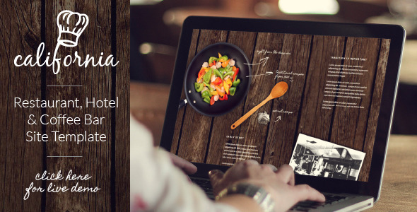 California - Restaurant Hotel Coffee Bar Website - Creative Site Templates