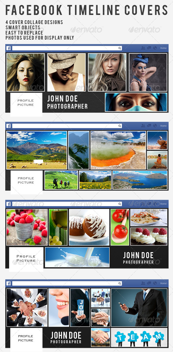 GraphicRiver Collage Facebook Timeline Covers Vol.1 5888002