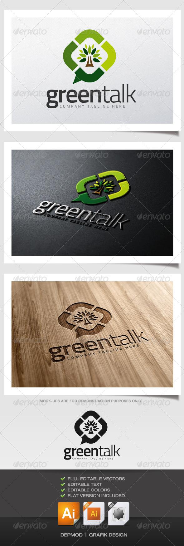 GraphicRiver Green Talk Logo 5888296