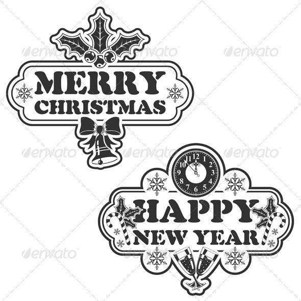 GraphicRiver Christmas Stamp 5888391
