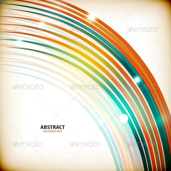 GraphicRiver Colorful Swirl Lines Abstract Background 5888396