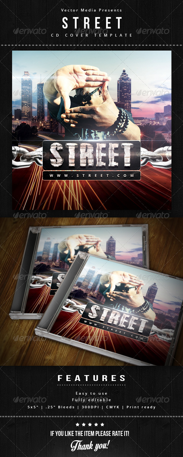 GraphicRiver Street Cd Cover 5888547