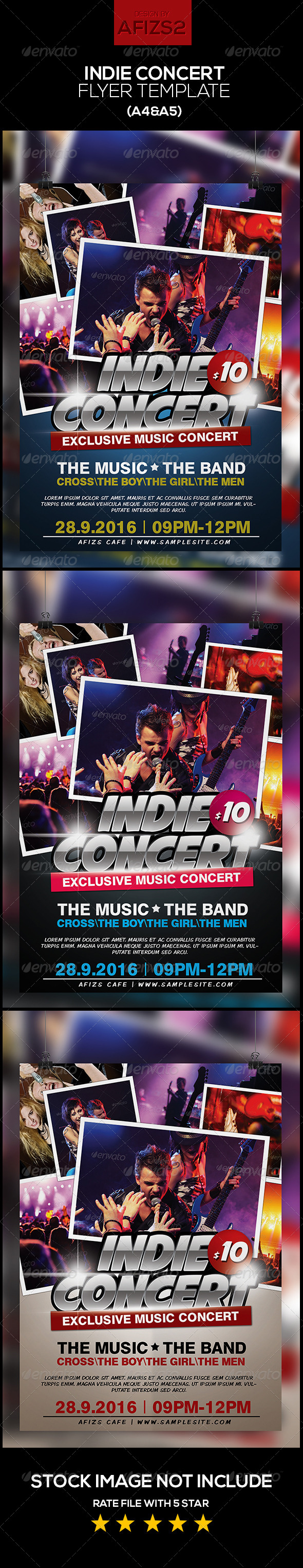 GraphicRiver Indie Music Concert 5888883