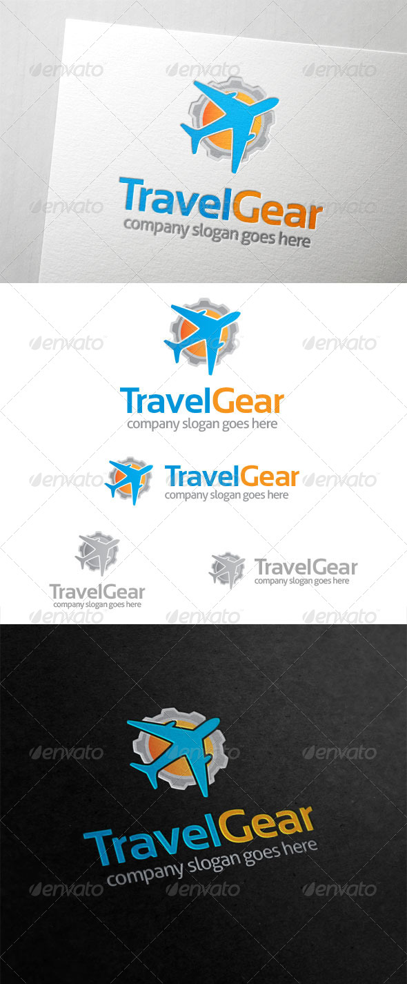 GraphicRiver Travel Gear Logo 5888910