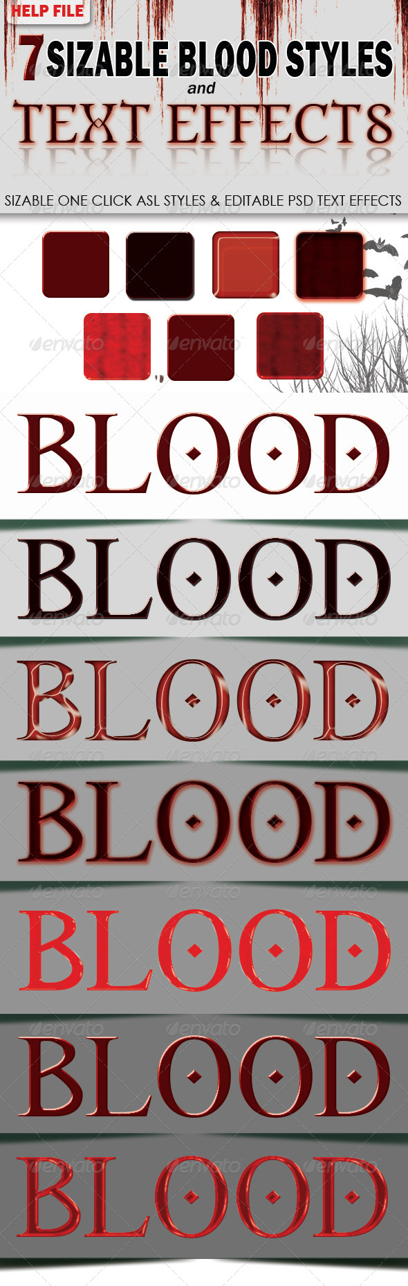 GraphicRiver 7 Sizable Blood Styles & PSD Text Effects 5888915