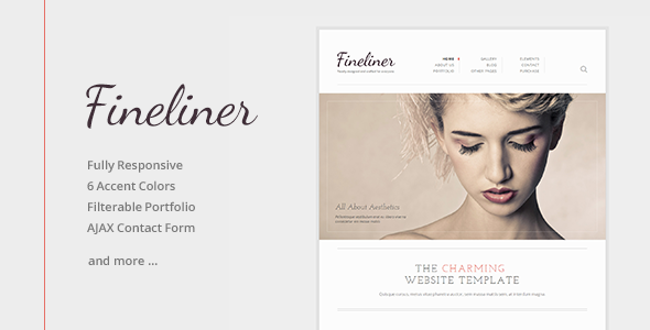 ThemeForest Fineliner Responsive Portfolio HTML Template 5888959