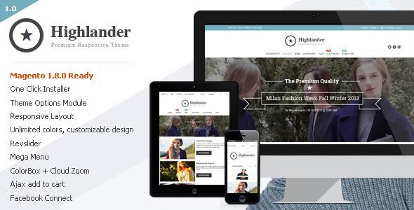 Highlander - Premium Responsive Magento Theme - Magento eCommerce