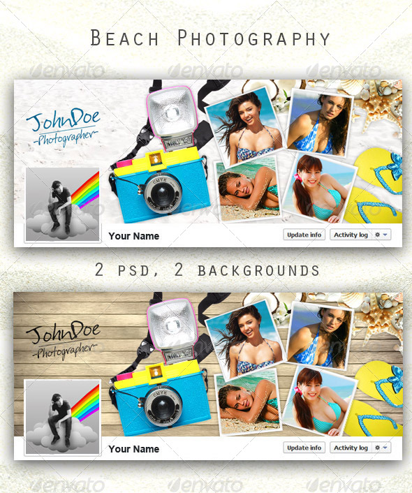 GraphicRiver Beach Photography FB Timeline 5889064