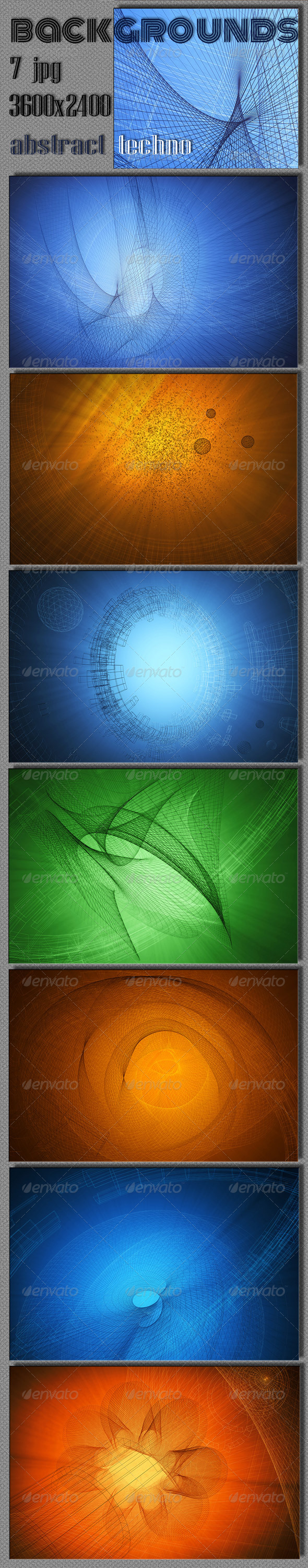GraphicRiver Abstract Techno Background 5889134