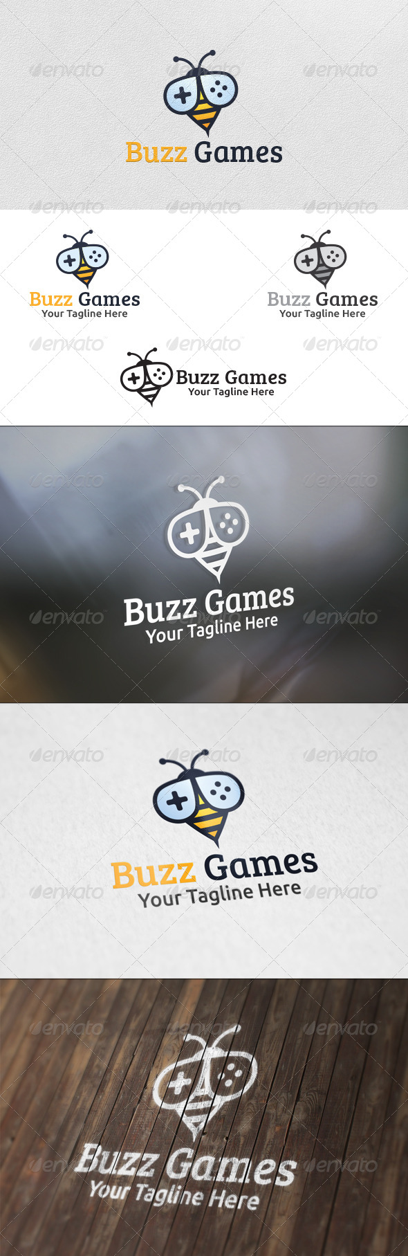GraphicRiver Buzz Games Logo Template 5889154