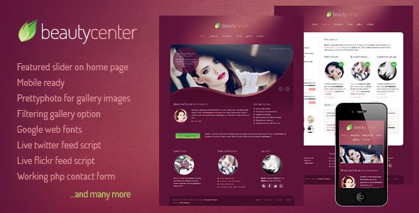 Beauty Center - Html/CSS Template - Health & Beauty Retail