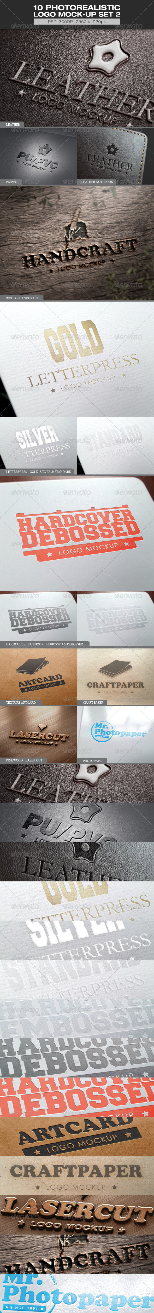GraphicRiver 10 Photorealistic Logo Mock-up Set 2 5889432