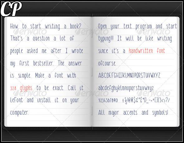 GraphicRiver LeFont Handwritten Font Typeface 5852104